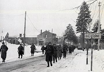 101st Airborne moving through Bastogne