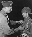 General Ridgeway decorating Col Harry L Lewis for the Normandy Landings