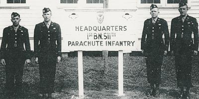 Officers of the 511th PIR 1st Battalion HQ Company
